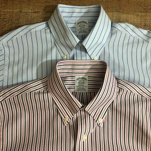 2) Brooks Brothers Regent Button Down Shirts Small